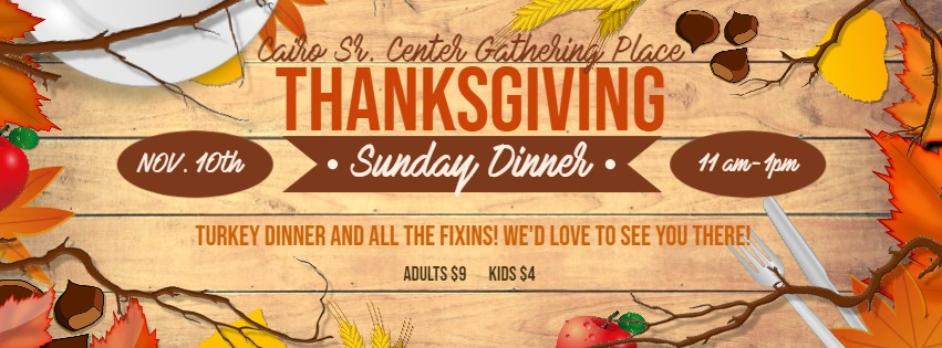 thanksgiving dinner at the gathering place